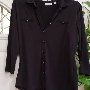 New York &Company stretch black shirt